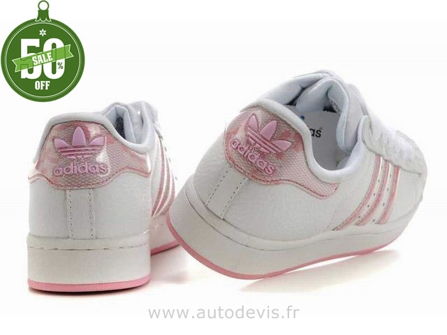 adidas superstar femme paillette rose